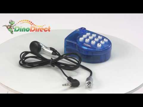 Hands Free Corded Desk Home Telephone with Headset Blue from Dinodirect.com