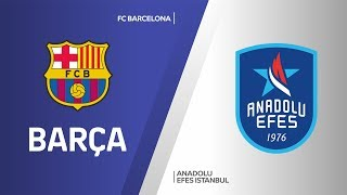 FC Barcelona - Anadolu Efes Istanbul Highlights | Turkish Airlines EuroLeague, RS Round 18