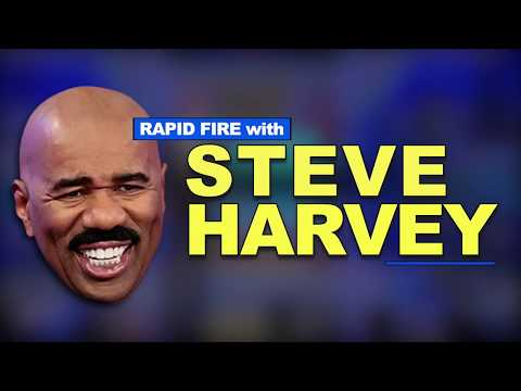 Rapid Fire With Steve Harvey: Coming to America, Jeopardy, Omega Psi Phi, and Gluten-Free Foods