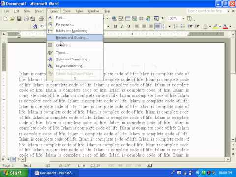 how to make independent colums ms word
