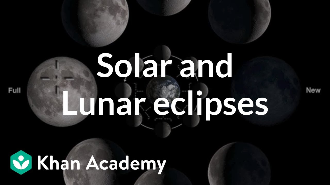 Solar and lunar eclipses (video) | Khan Academy