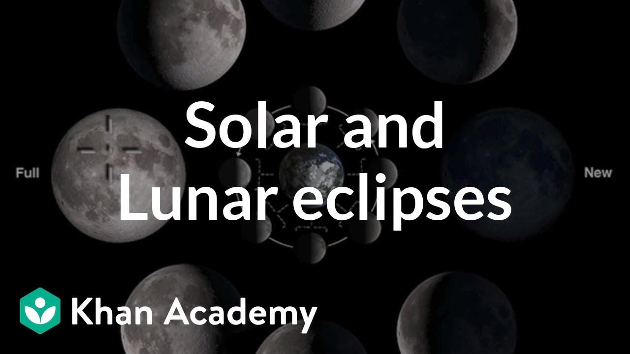 medium resolution of Solar and lunar eclipses (video)   Khan Academy