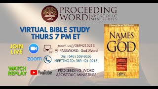 2021_0311 PWAM Bible Study: Names of God - PART 1
