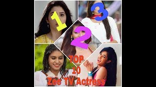 Top 10 Most Beautiful Actress for Zee TV Serial   2018 #Top10World