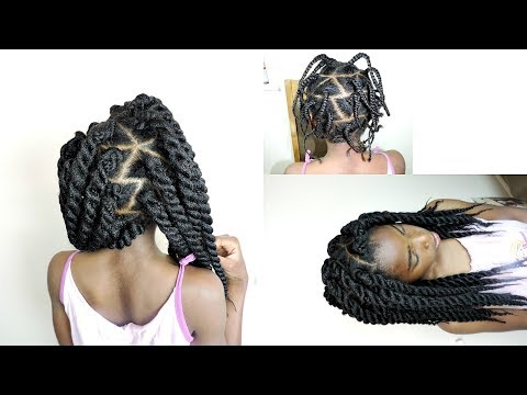 Rope Twist Ponytails w/Beads Tutorial | Kids Natural Hairstyle | IAMAWOG from YouTube · Duration:  4 minutes 6 seconds