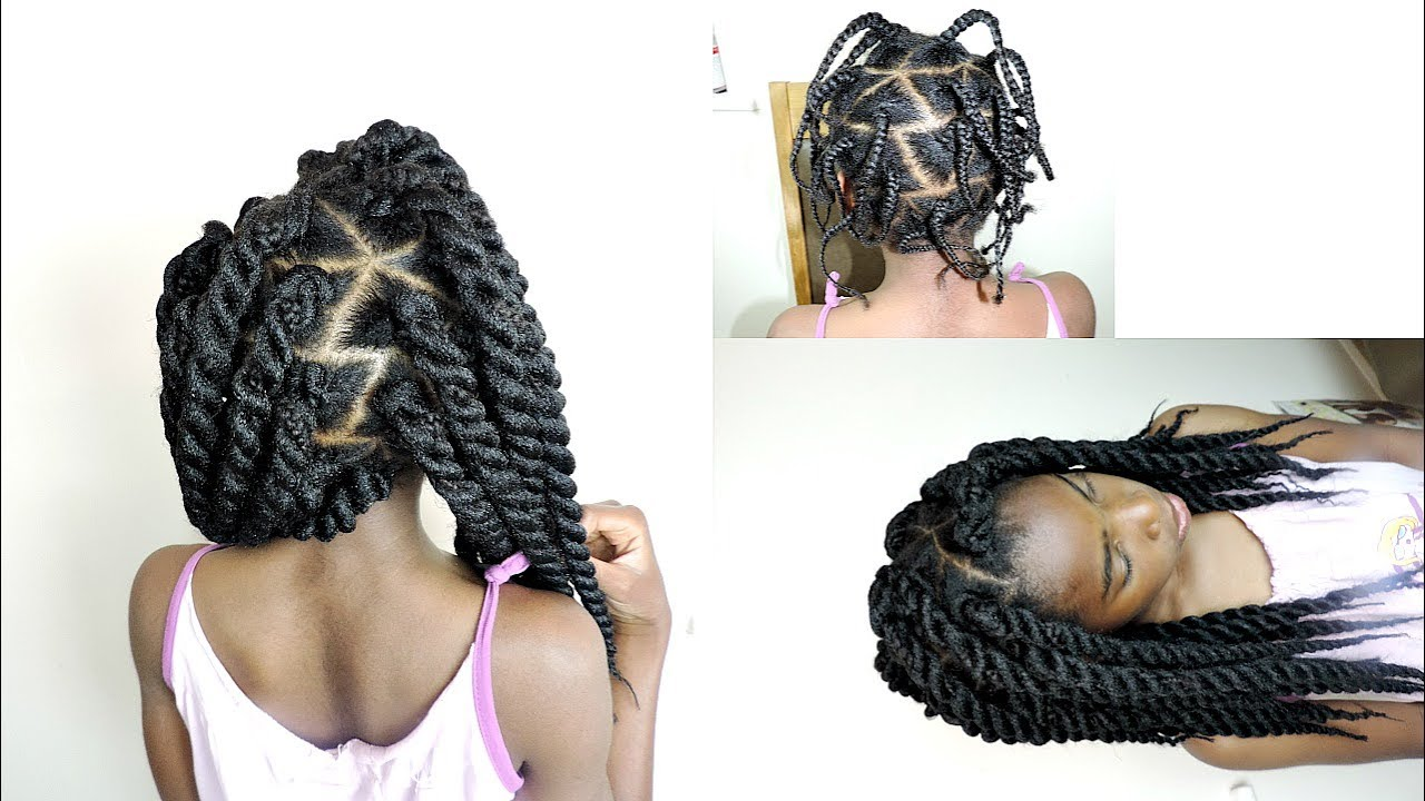 No Cornrow Individual Crochet Twists For Young Girls