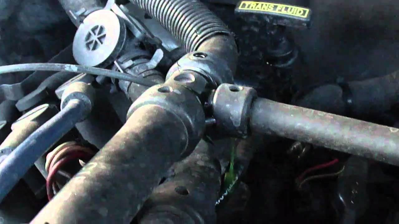 2000 ford explorer radiator diagram rv wiring diagrams 7 way 2003 ranger egde 3 0l heater core hose leak youtube