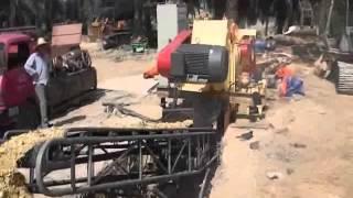 Malaysia GX2113  Wood chipper machine working video