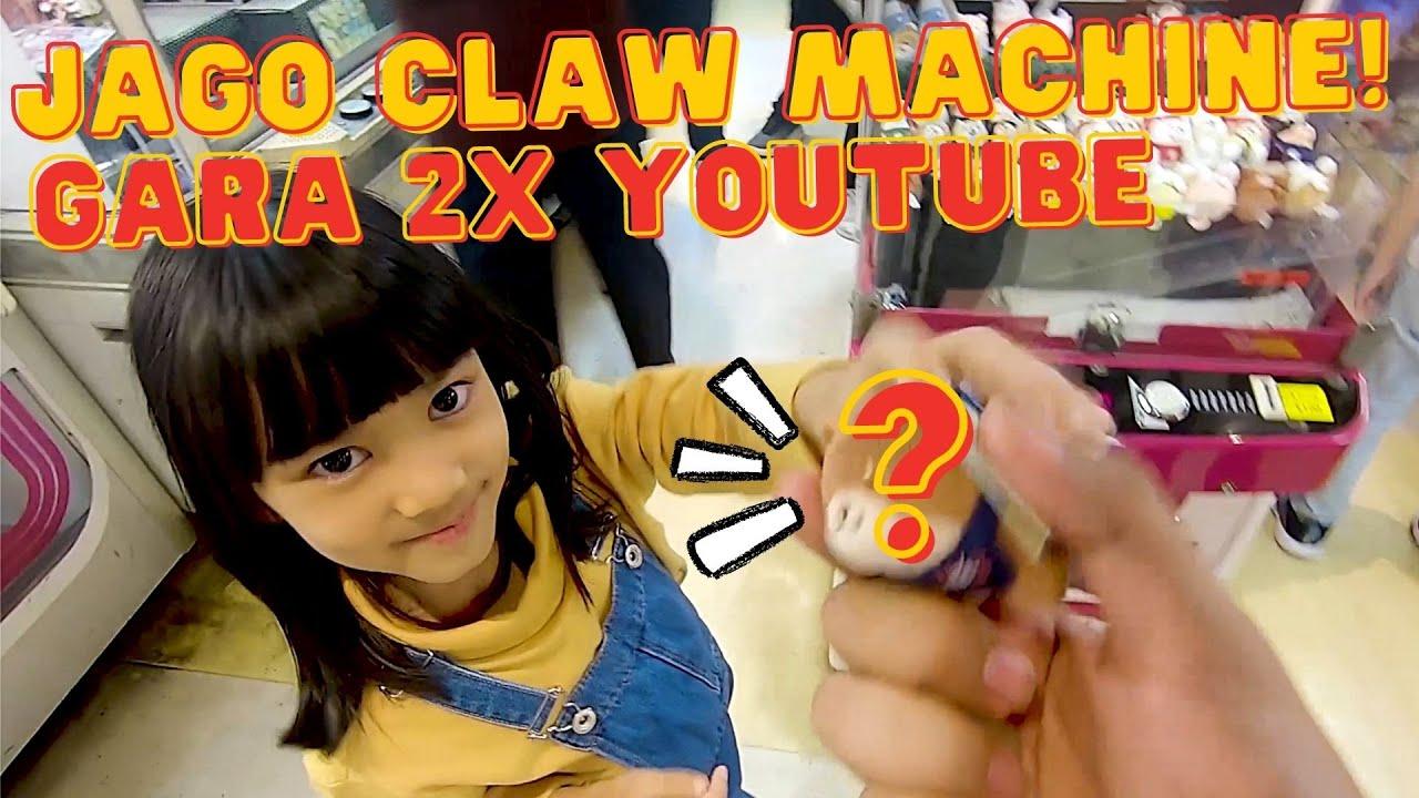 JAGO CLAW MACHINE GARA2x NONTON YOUTUBE!