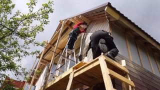видео Имитация бруса в обшивке стен