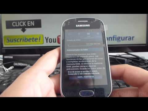 Como liberar memoria ram en samsung Galaxy Fame S6810 español Full HD