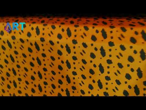 Art Plus | Customized Leopard Curtains for a Restaurant - UV Printing