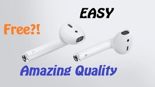 How to turn any wired pair of earphones... INTO WIRELESS EARPHONES FOR FREE!!!