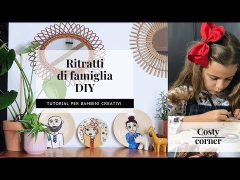 RITRATTI DI FAMIGLIA - DIY PER BAMBINI CREATIVI
