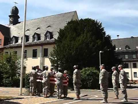 Final retreat ceremony at Nachrichten Kaserne