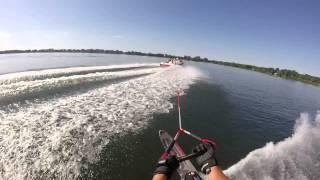 "Slalom Water Ski Run with ""Helmet Cam"""