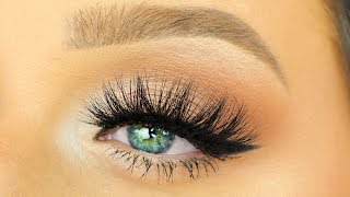 HOW TO APPLY FALSE LASHES WITH A THICK BAND   How To Apply False Eyelashes for Beginners