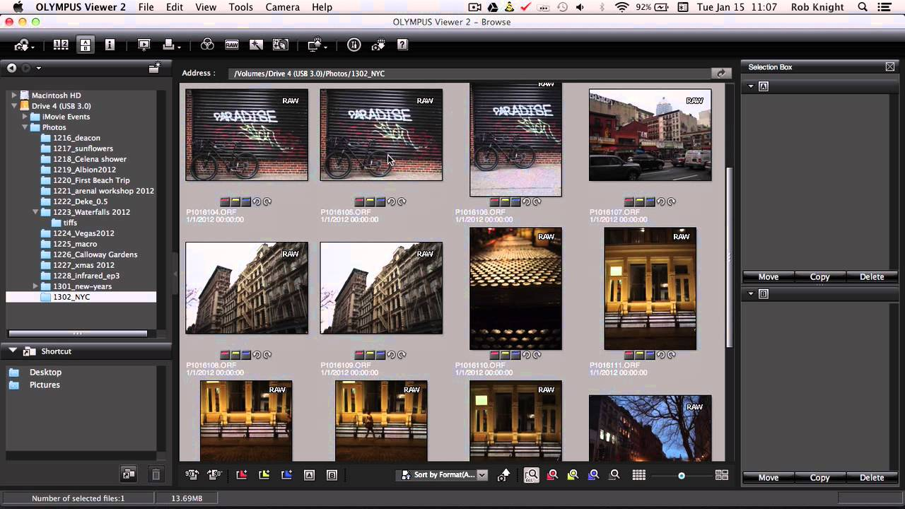 Olympus Viewer 2 Batch Processing for raw files - YouTube