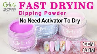 Ombre and Colorful Dip Nail Arts by Fast Drying Dip Powder System