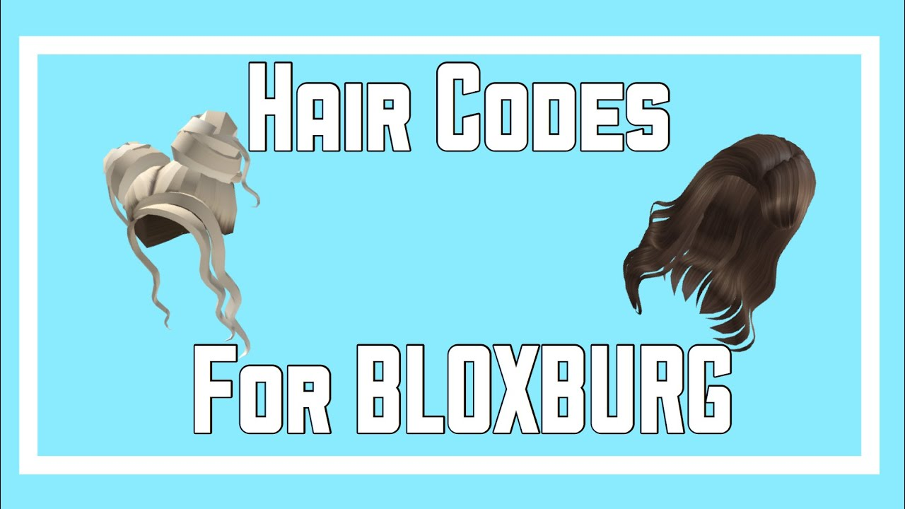 Brown And Blonde Hair Codes For Bloxburg Youtube