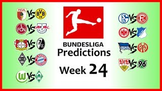 2018-19 BUNDESLIGA PREDICTIONS - WEEK 24