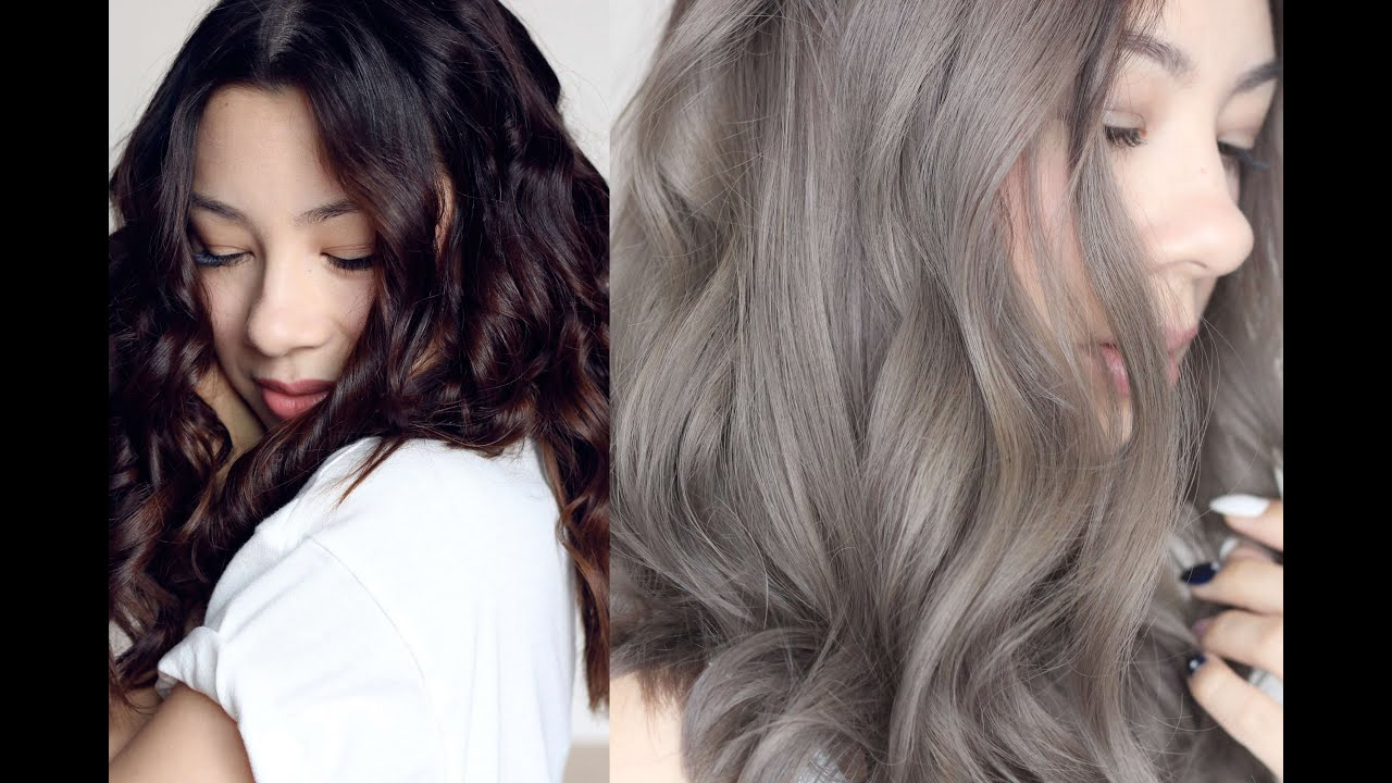 GREY HAIR FROM BROWN TO ASH GREY HAIR
