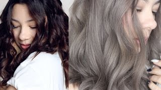 GREY HAIR : FROM BROWN TO ASH GREY HAIR