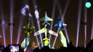 Royal Thai Air Force Light and Sound show การแสดงแสงสีเสียงในวันกองทัพอากาศ