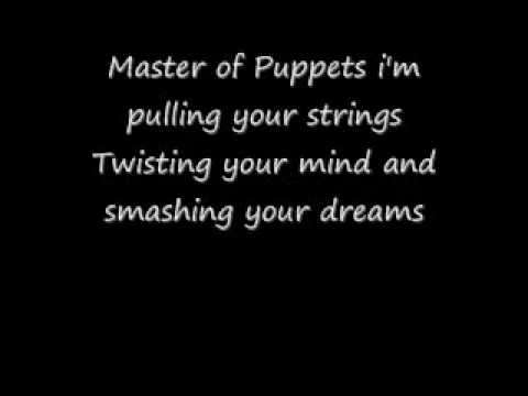 Master of Puppets Lyrics By Metallica - YouTube
