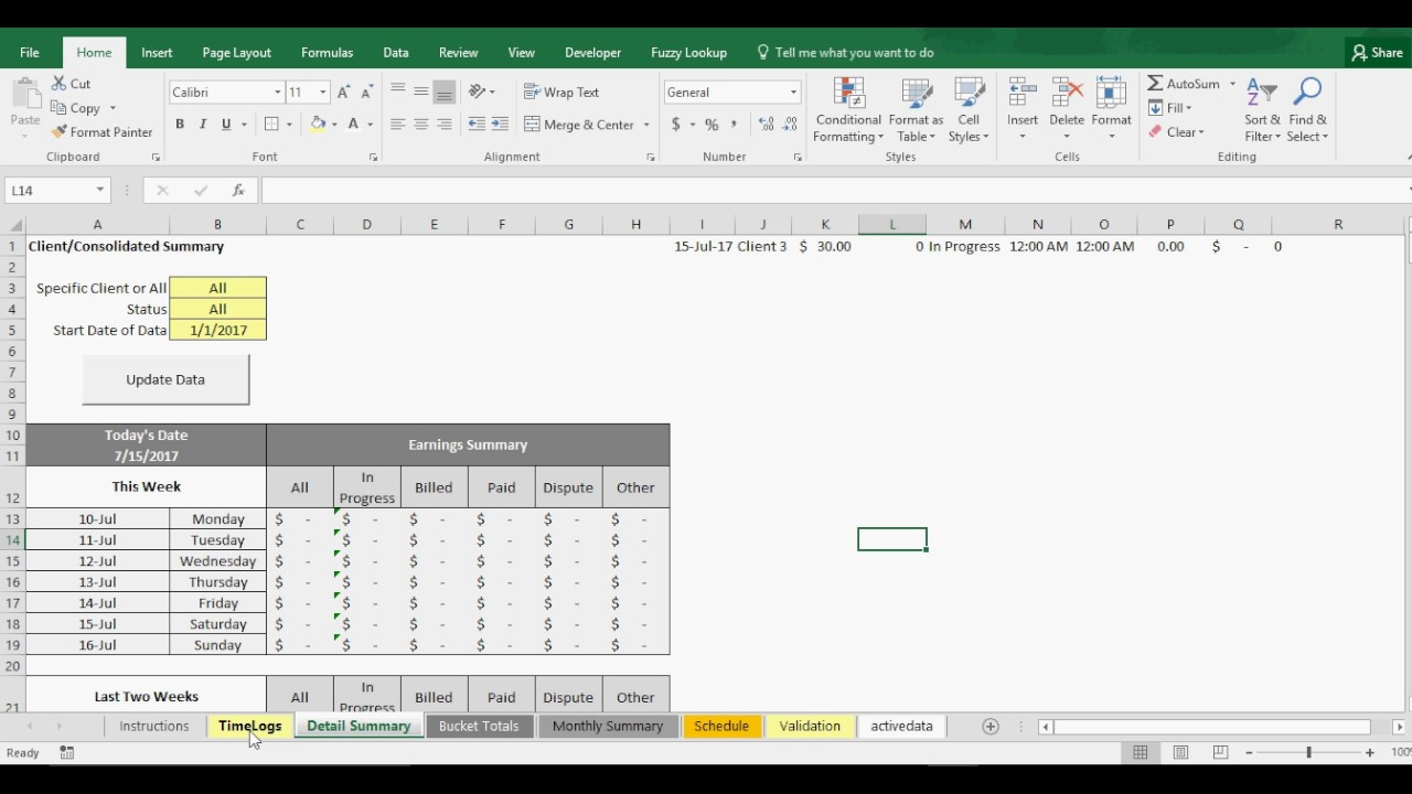 excel time tracker billable hours youtube