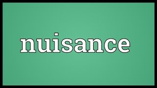 Nuisance Meaning