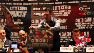 New york City Cotto Canelo Press Conference