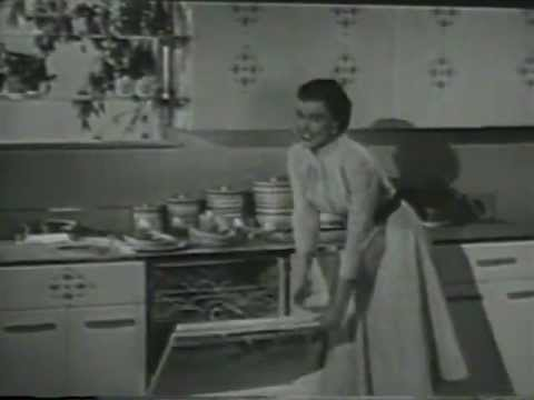 VINTAGE 1956 FRIGIDARE DISHWASHER COMMERCIAL - 16 YEARS BEFORE MY FAMILY GOT THEIR FIRST DISHWASHER