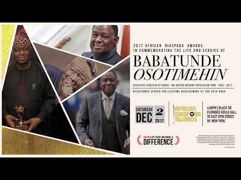 Babatunde Osotimehin Acceptance Speech at the 2016 African Diaspora Awards in NYC