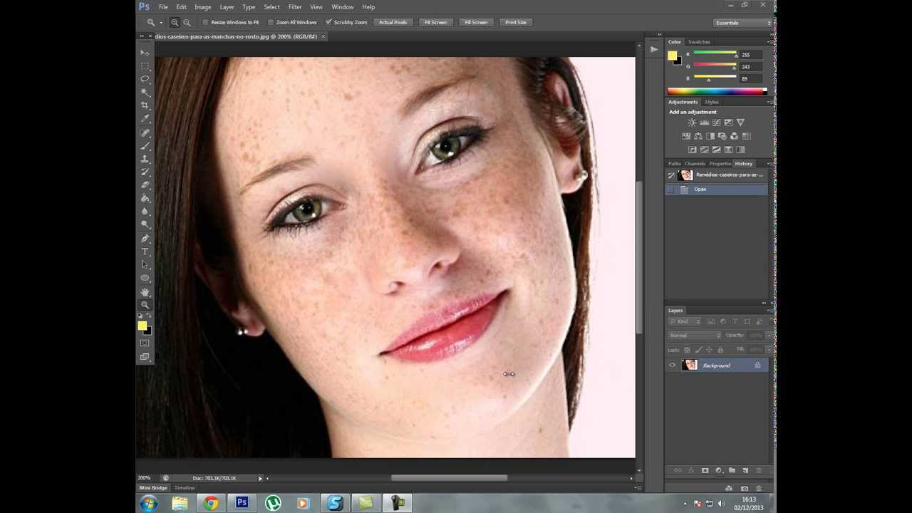 Tutorial Tratamento De Pele Photoshop Cs6 Youtube