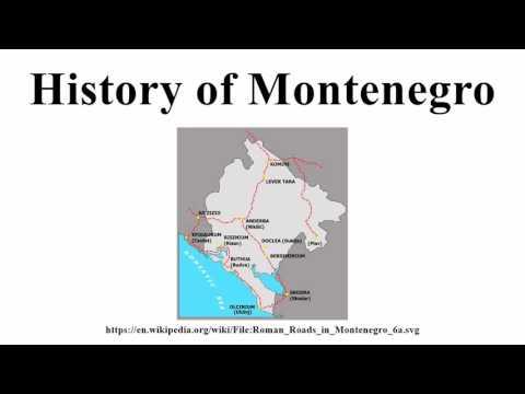 History of Montenegro