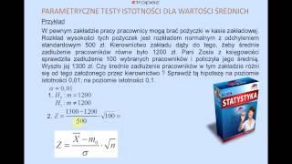 Statystyczny test istotności (fragment Kursu Statystyki)
