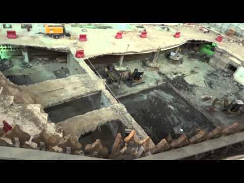 zamzam well area construction {full HD} آب زم زم