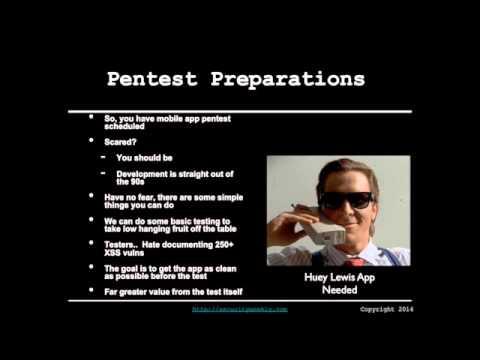 Pen Test Preparations - Mobile Application Assessments