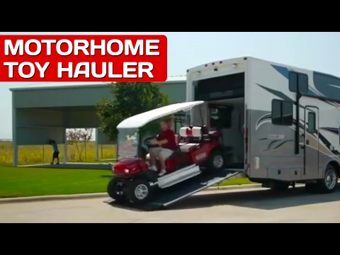 Motorhomes with Garages: Best Toy Haulers   Outlaw RV Review