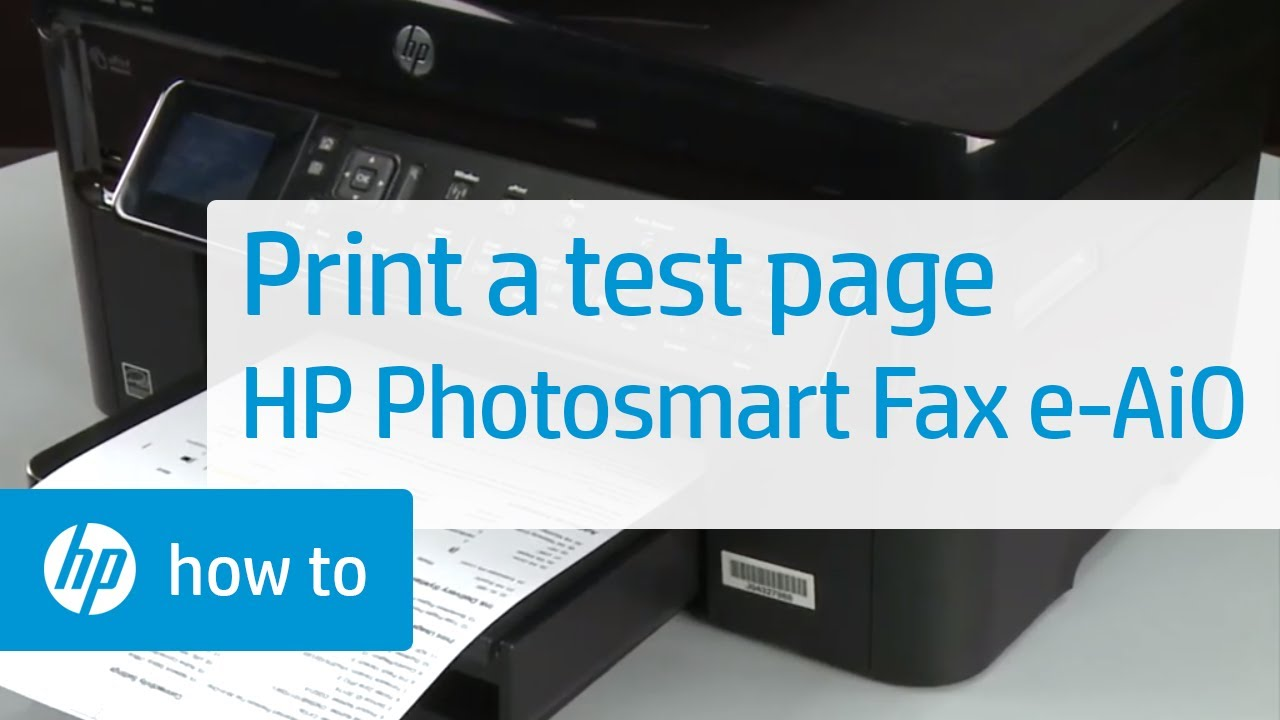 Printing A Test Page Hp Photosmart Premium Fax E All In