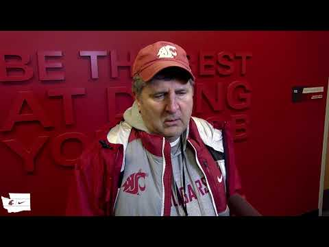 WSU Football: Mike Leach After Practice 12/14/19