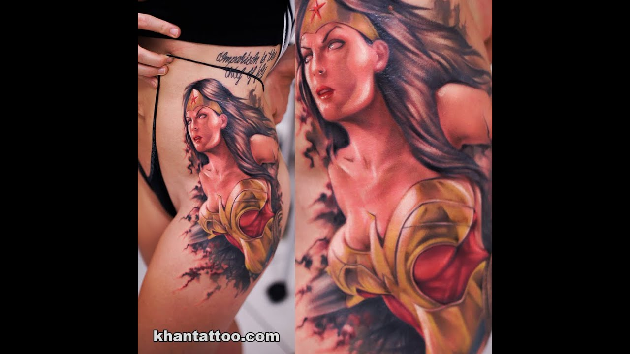 Wonder Woman Tattoo By KHAN