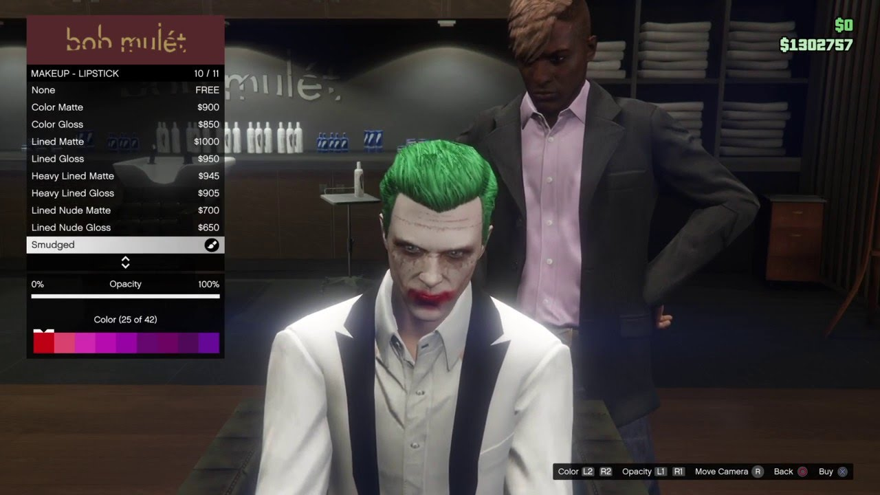 grand theft auto 5 online suicide squad joker makeup