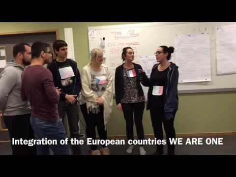 Integration of European countries WE ARE ONE - Group 5 art presentation