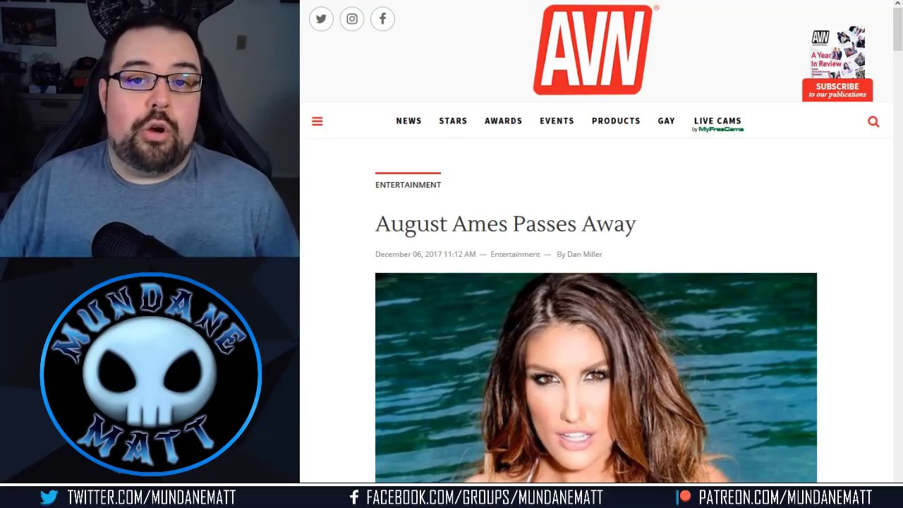 August Ames Death Report >> August Ames passes away at 23 - YouTube
