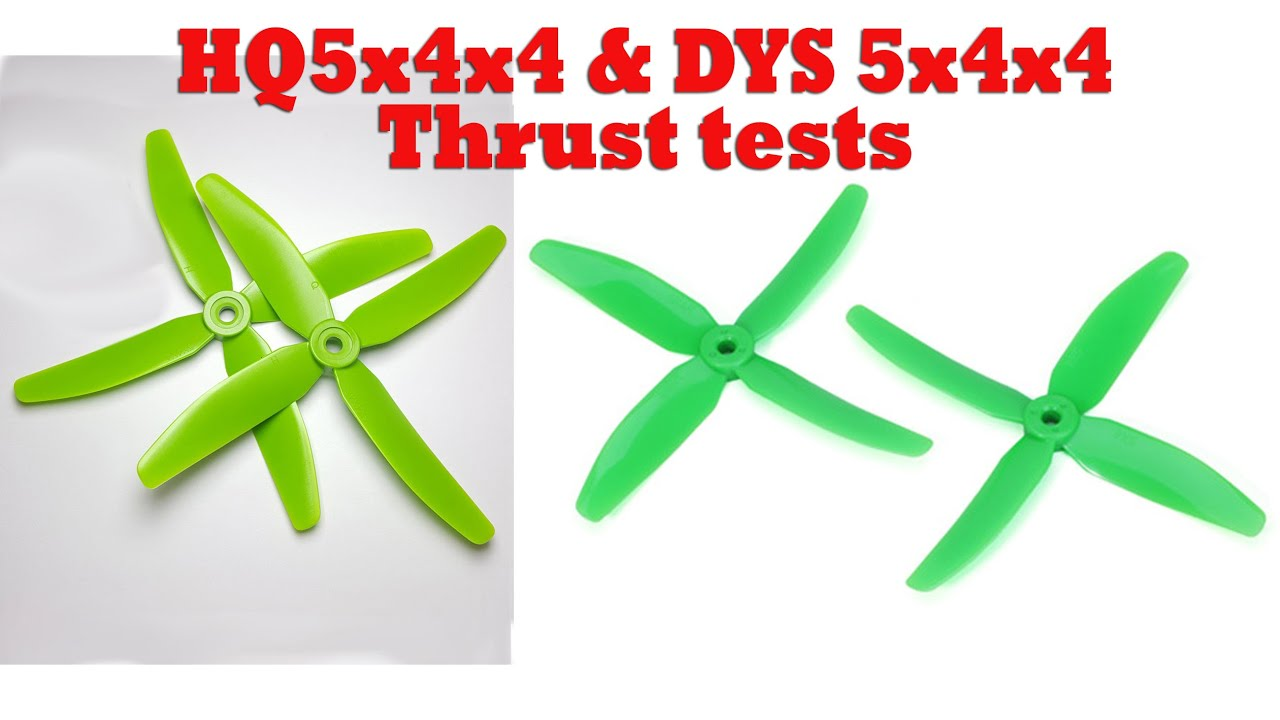 DYS X50404 5040x4 Propeller Static Thrust Test