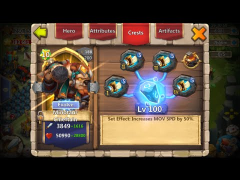 Castle Clash Rank 1 Arena New Set Up With Valentina Mino SK WL DD And Aries