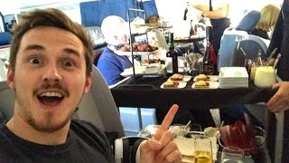 This is FIRST CLASS on a plane!