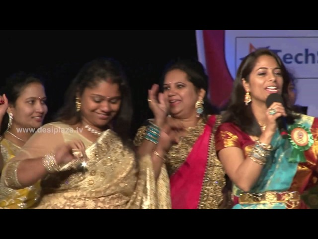 DATA members having fun on stage at Bathukamma & Dasara Panduga Celebrations 2016